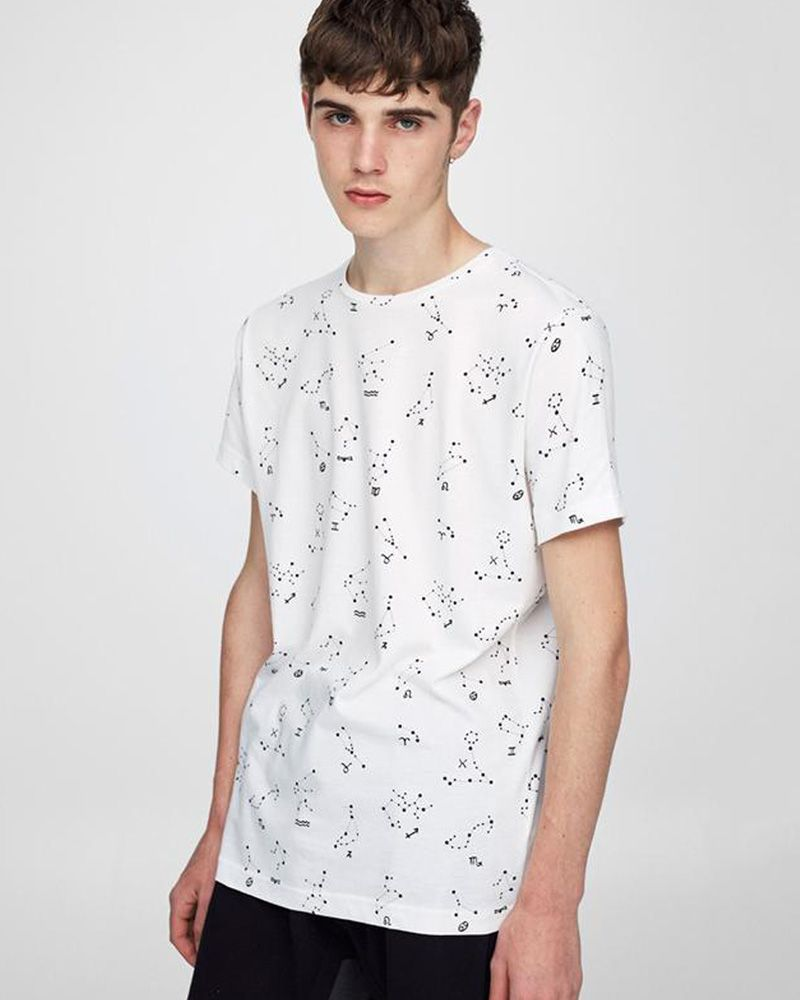 Buy Pull & Bear Branded T-Shirt For Man -White Star Half Sleeves Casual - Spain Brand Online in Karachi, Lahore, Islamabad, Pakistan, Rs.{{amount_no_decimals}}, Mens T-Shirts Online Shopping in Pakistan, Pull & Bear, Buy Tshirts Online in Pakistan, casual, Casual T-Shirt, clothing, Export Stock Lot, Half Sleeves T-Shirt, men, Men Clothing Fashion, Men Fashion, Mens Clothing, tshirt.pk, tshirts online, tshirts pakistan, tshirts.com, tshirts.com.pk, tshirts.pk, Online Shopping in Pakistan - diKHAWA Fashion