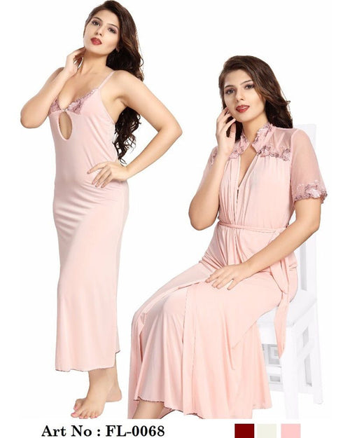 Skin Nighty - FL-0068 - Flourish 2 Piece Nightwear