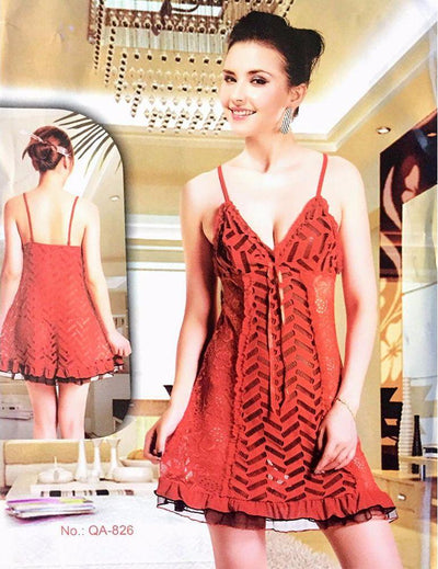 Sleepwear Nighty for Women - QA-826 - Nighty - diKHAWA Online Shopping in Pakistan
