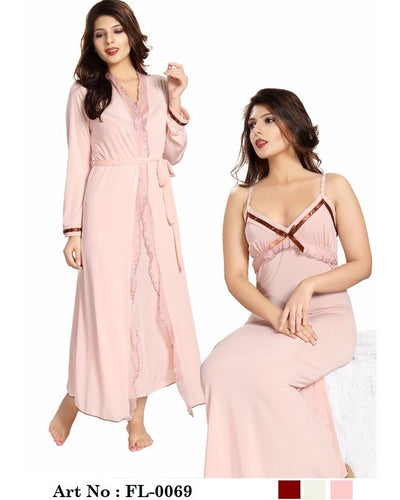 Skin Nighty - FL-0069 - Flourish 2 Piece Nightwear