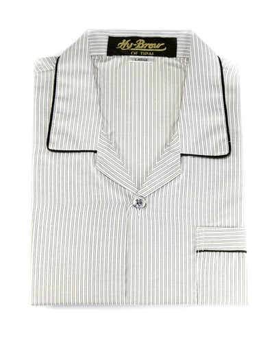 Mens Wedding Nightdress - Striped Design Nightwear By Hy-Brow Plus High Classic