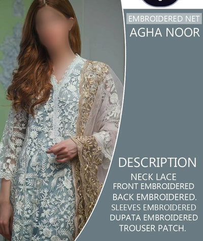 AGHA NOOR Thread & Zari Work Festive Edition 2k2k
