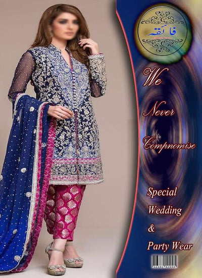 ZAINAB CHOTTANI CHIFFON EMBROIDERED COLLECTION -Replica - Unstitched