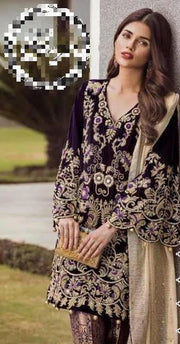 Riffat & Sana (Velvet Collection)- Replica - Unstitched