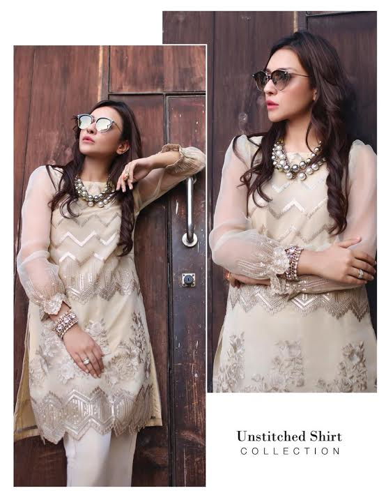 Azure kurti now available  (Replica) (Unstitched)