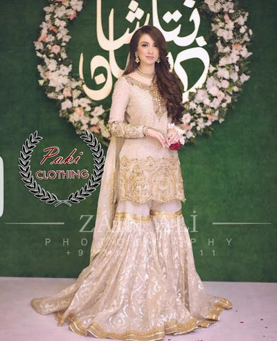 ZAINAB CHOTTANI BRIDAL AVB NOW MADE ON CHIFFON- Replica - Unstitched
