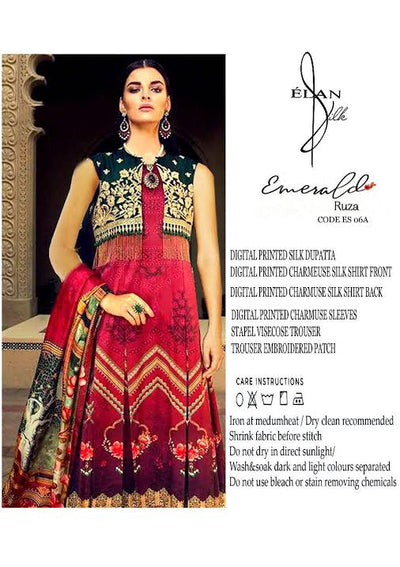 MOST DEMANDING ELAN LUXRY SHAMOZ SILK COLLECTION.- Replica - Unstitched