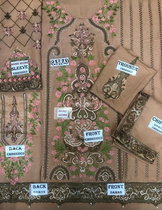 serene chiffon collection 2019 new arrival  (Replica) (Unstitched)