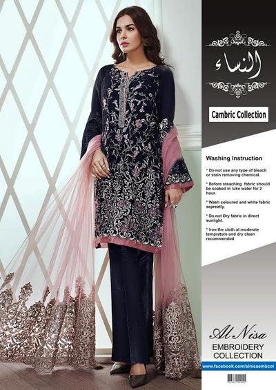 Baroque Jazmin Cotton Suit- Replica - Unstitched