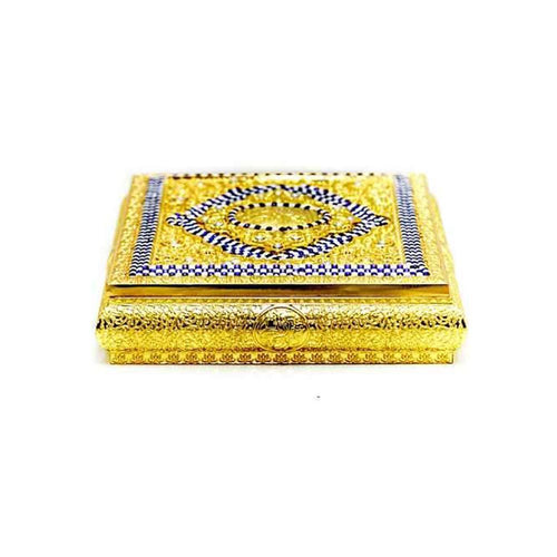 Fancy Quran Box – Golden - Quran Box - diKHAWA Online Shopping in Pakistan