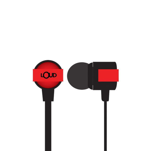 Loud EPM400 - Go Fit Wired Earphone - Red
