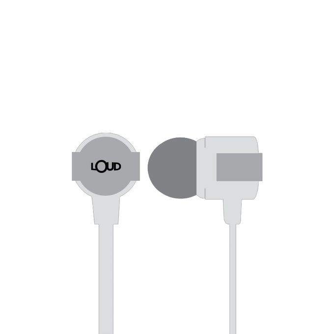 Loud EPM400 - Go Fit Wired Earphone - White - Market Place - diKHAWA Online Shopping in Pakistan