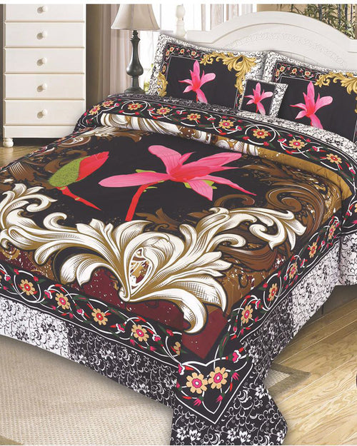 Buy Multicolor Cotton King Size Bed Sheet with 2 Pillows Covers & Cushion Online in Karachi, Lahore, Islamabad, Pakistan, Rs.1399.00, Market Place Online Shopping in Pakistan, Khareedlo, Badsheets, Khareedlo, lifestyle-bed-sheets, diKHAWA Online Shopping in Pakistan