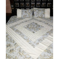 Multicolor King Size Center Foaming Bedsheet Set - 3pcs