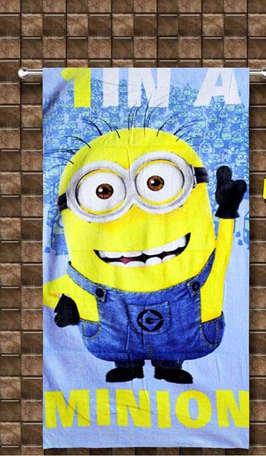 TOWELS -CLASSIC MINION -  COLOR BLUE