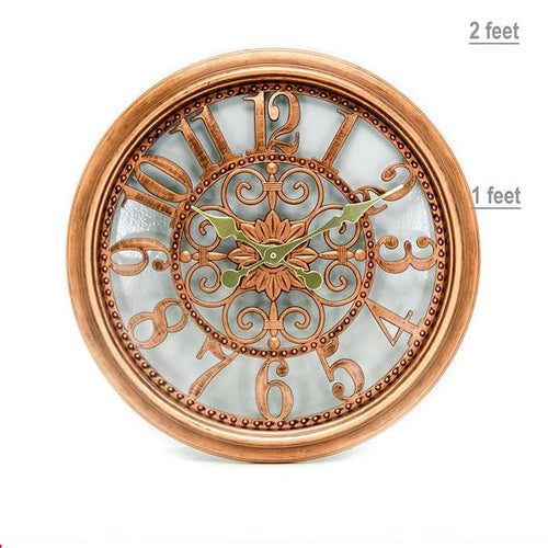 Antique Metal Wall Clock - Wall Clocks - diKHAWA Online Shopping in Pakistan