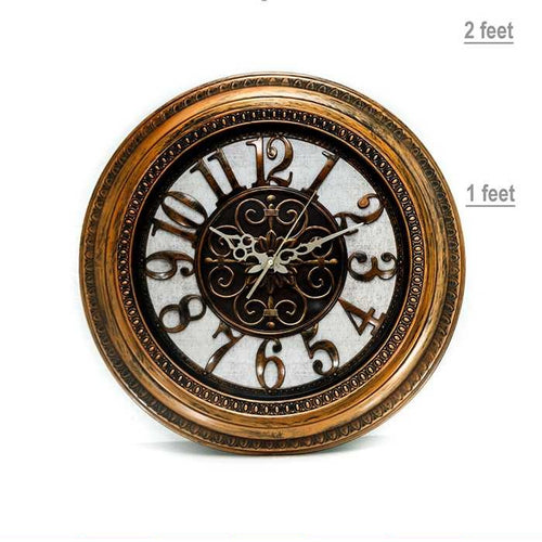 Antique Round Wall Clock - Wall Clocks - diKHAWA Online Shopping in Pakistan