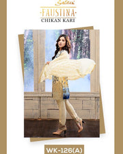 FAUSTINA By SALITEX Chicken Kari Collection - 126-A (Replica)(Unstitched)