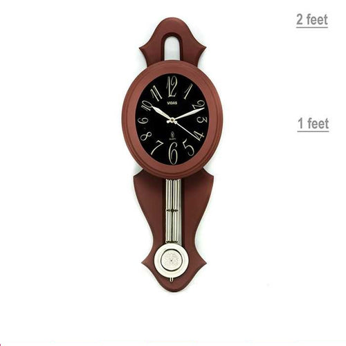 Pendulum Oval Wall Clock - Wall Clocks - diKHAWA Online Shopping in Pakistan