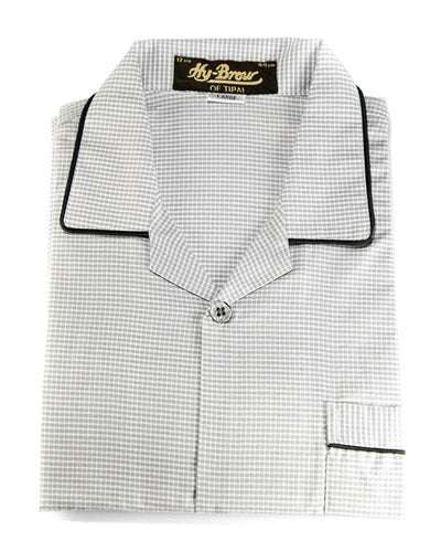 Mens Wedding Nightdress - Checkered Design Nightwear By Hy-Brow Plus High Classic