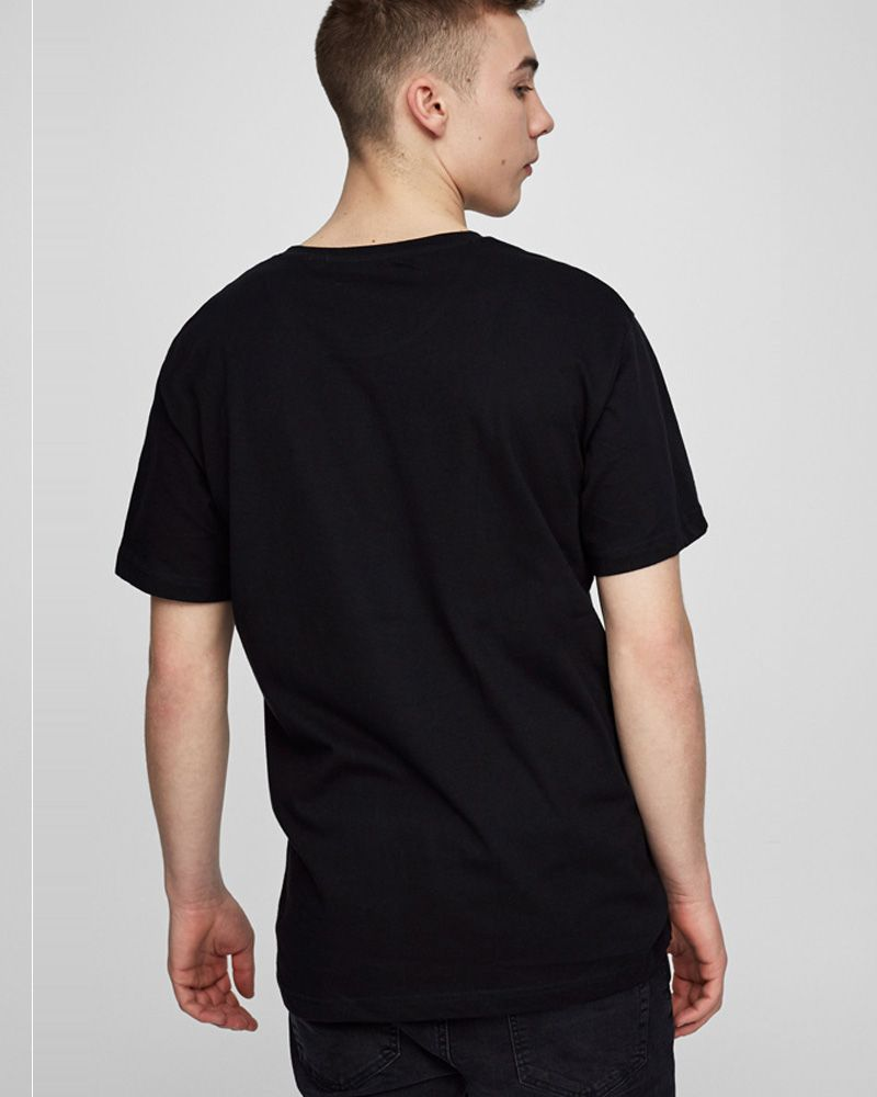 Pull & Bear Branded T-Shirt For Man - Black Fish Print Half Sleeves Casual -  Spain Brand