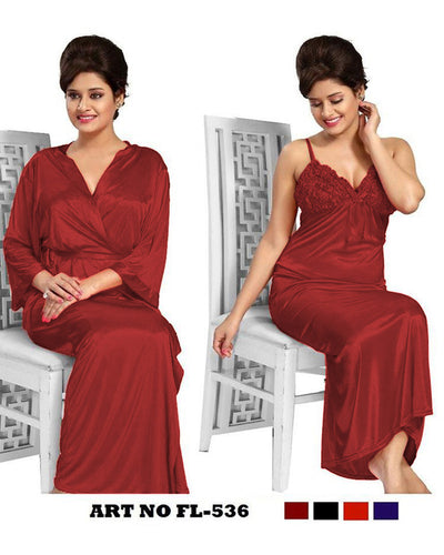 Golden Nighty - FL-536 - Flourish 2 Piece Nightwear