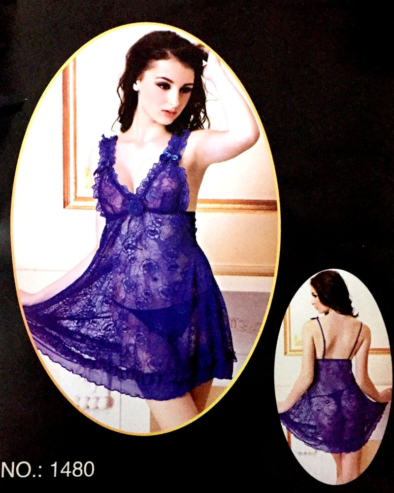 Romantic Short Nightwear For Women -  1480