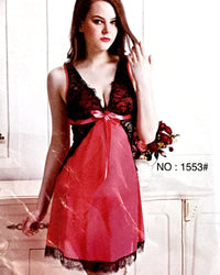 Romantic Short Nightwear For Women -  1553