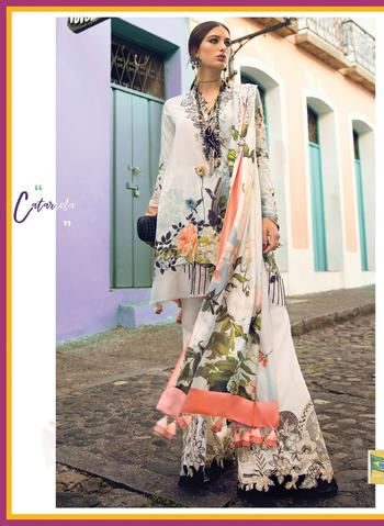 ELAN LAWN SUIT (Replica) (Unstitched)