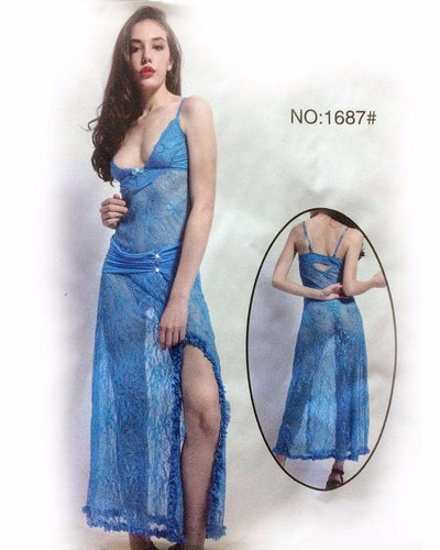 See Through Long Net Nighty - MN - 1687 - Nighty - diKHAWA Online Shopping in Pakistan