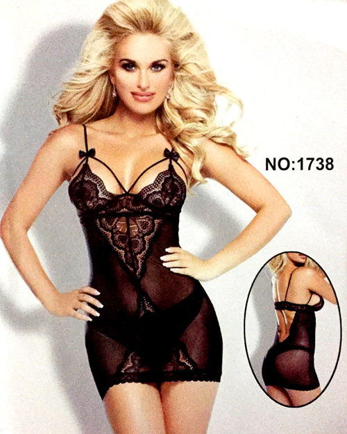 Romantic Short Nightwear For Women - 1738