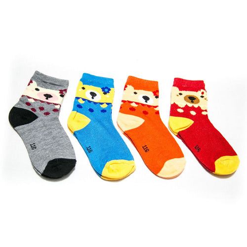 Kids Socks for 1 – 4 Years – Colourful Socks – Pack of 4 - Kids Socks - diKHAWA Online Shopping in Pakistan