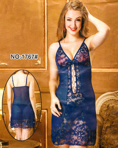 Bridal Sexy Transparent Short Nighty - 1767
