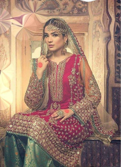 Maria B New Collection Hit Design With Heavy Embroidery Full Shaded Net Dupatta (Replica)(Unstitched)
