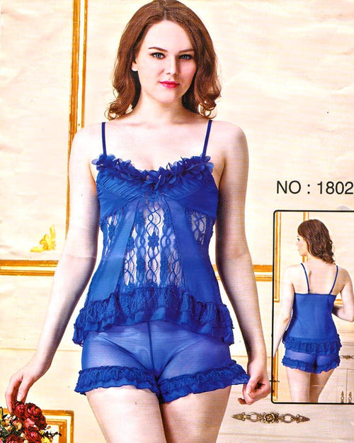 Bridal Sexy Transparent Short Nighty - 1802