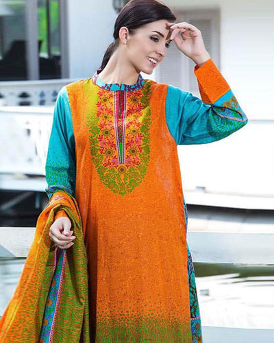 Jhalak Lawn Suits 3 Piece - 1803-B (Original) (Unstitched)