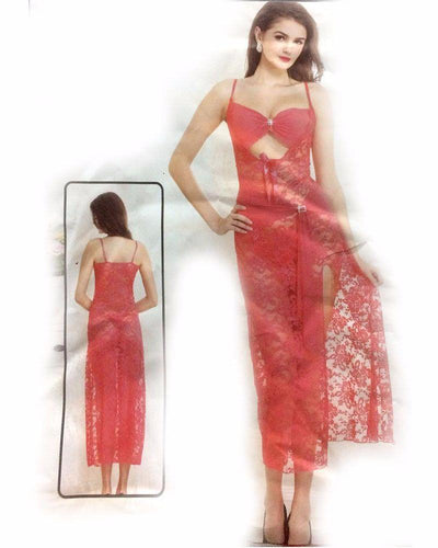 See Through Sexy Long Net Nighty - MN - 1930 - Nighty - diKHAWA Online Shopping in Pakistan