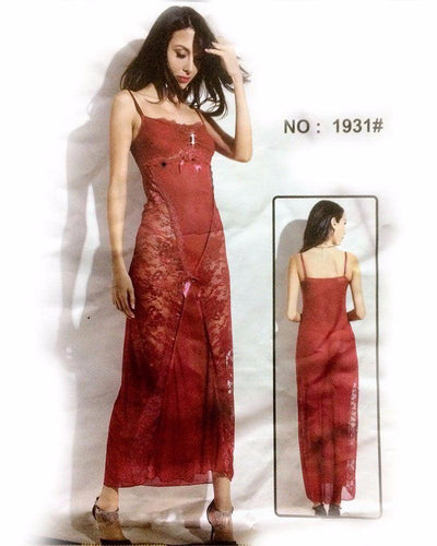 Bridal Sexy Long Net Nighty - MN - 1931 - Nighty - diKHAWA Online Shopping in Pakistan