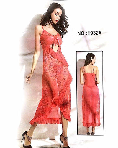 Transparent Sexy Long Net Nighty - MN - 1932 - Nighty - diKHAWA Online Shopping in Pakistan