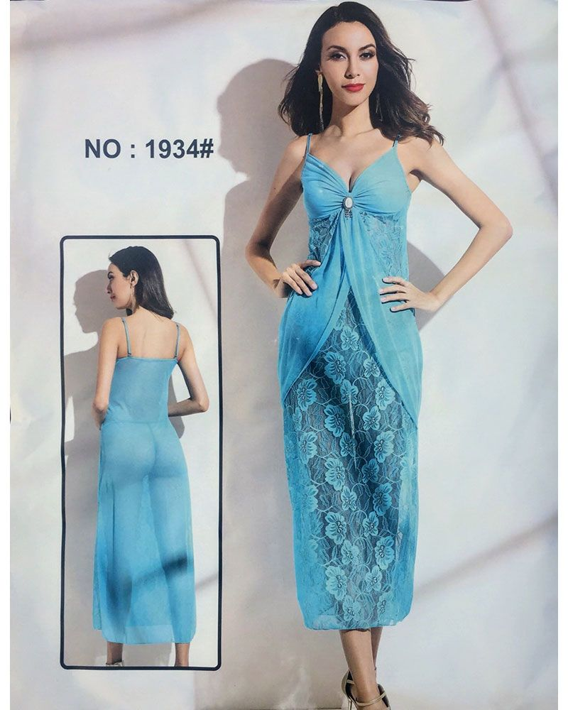 Hot & Sexy Long Net Nighty - 1934 - Nighty - diKHAWA Online Shopping in Pakistan