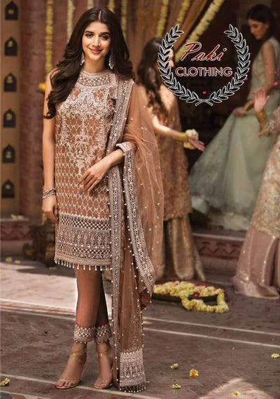 Aanaya Bridal Collection Front Net Heavy Emb With HandWork - Replica - Unstitched