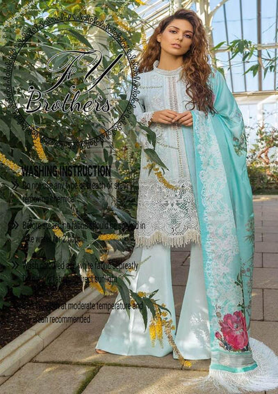 Sobia Nazir Lawn Collection Full Heavy Shifle Cutwork Embroidered Front - Replica - Unstitched