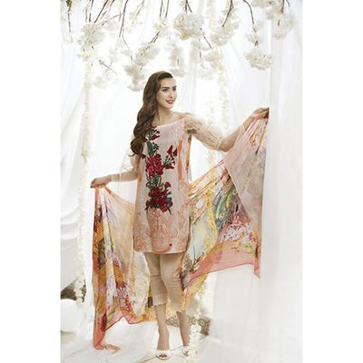 ASIFA NABEEL LAWN SUIT (Replica) (Unstitched)