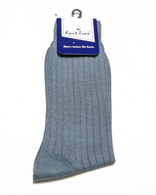 Grey Cotton Rib Socks - KL-20 - Mens Socks - diKHAWA Online Shopping in Pakistan