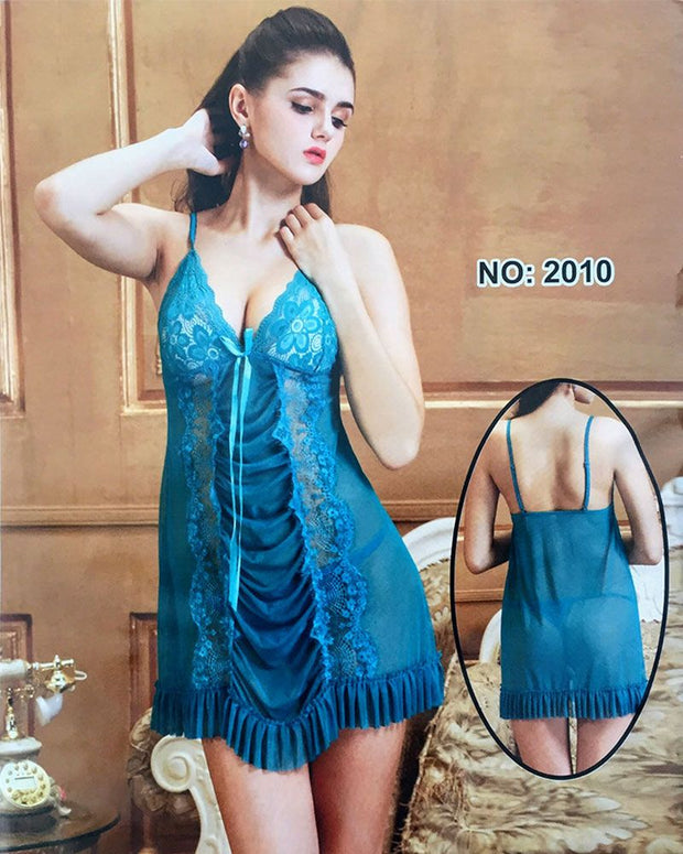 Elegant See Through Short Nighty - 2010 - Nighty - diKHAWA Online Shopping in Pakistan