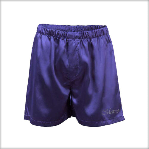 Polyester Solid Satin Men's Boxer MS01-NV - Mens Shorts - diKHAWA Online Shopping in Pakistan