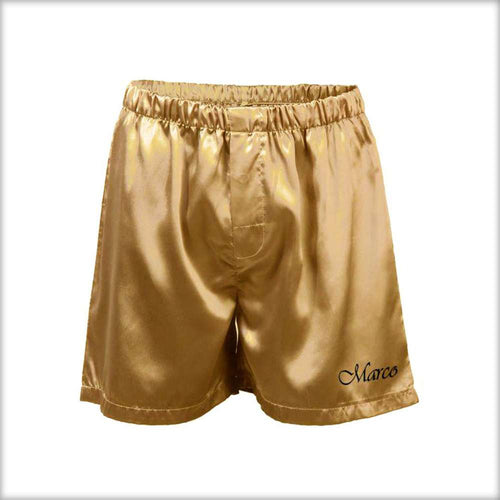 Polyester Solid Satin Men's Boxer MS01-GD - Mens Shorts - diKHAWA Online Shopping in Pakistan