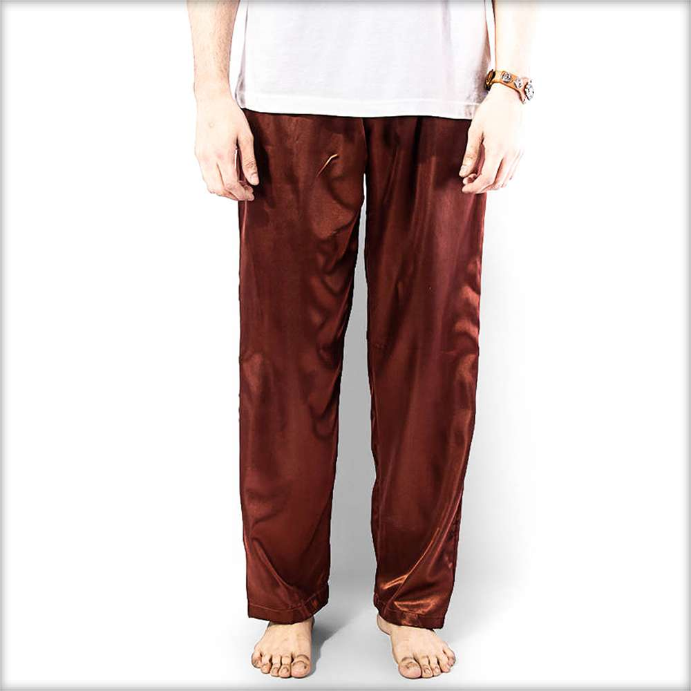 Buy 100% Polyester Solid Satin Men's Pajama MP51-BR Online in Karachi, Lahore, Islamabad, Pakistan, Rs.600.00, Out of Stock Online Shopping in Pakistan, Out of Stock, Clothing, Men, Nightwear, Pajamas, diKHAWA Online Shopping in Pakistan