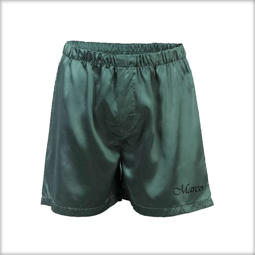 Polyester Solid Satin Men's Boxer MS01-GR - Mens Shorts - diKHAWA Online Shopping in Pakistan