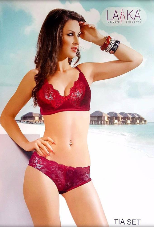 Tia Sexy Bridal Bra & Panty Set by Laika - Bra Panty Sets - diKHAWA Online Shopping in Pakistan